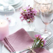 Festive wedding table setting — Stock Photo #41202871