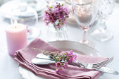 Festive wedding table setting — Stockfoto