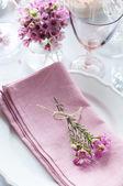 Festive wedding table setting — Stock Photo