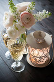 Home festive wedding decor — Stock Photo