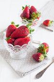 Färska jordgubbar — Stockfoto