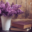 Vintage Bouquet of lilac flowers — Stock Photo #45245045
