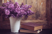 Vintage Bouquet of lilac flowers — Stock Photo