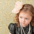 Girl dressed as a retro doll — Stock Photo #4601649