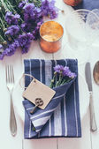 Home table setting — Stock Photo