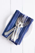 Delicate vintage silverware — Stock Photo