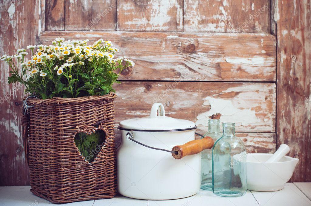 Accogliente arredamento rustico — Foto Stock © manera #47901521