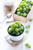 Fresh ripe green gooseberry — Stock Photo