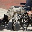 Injured Man Wheelchair — Stock Photo