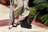 Ankle Brace Crutches — Stock Photo