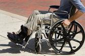 Injured Man Wheelchair — Stock Photo