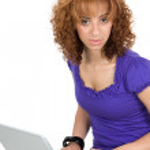 Business Woman On Laptop — Stock Photo #1395641