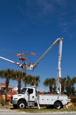 Bucket Truck Cherry Picker — Stock Photo