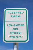 Fuel Efficient Vehicles Sign — Stock Photo