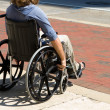 Injured Wheelchair Man — Stock Photo