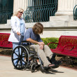 Nurse Disabled Patient — Stock Photo