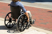 Injured Wheelchair Man — Stok fotoğraf
