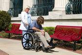 Nurse Disabled Patient — Stock Photo