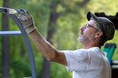 Painter Brush Man — Stock Photo