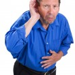 Senior Hearing Loss — Stock Photo