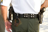 Policemans Equipment Belt — Stock Photo
