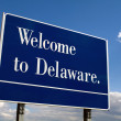Welcome To Delaware Sign — Stock Photo