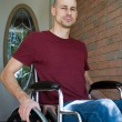 Disabled Man Home — Stock Photo