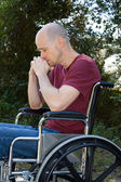 Depression Disabled Wheelchair — Stock Photo