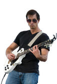 Man spela gitarr — Stockfoto