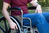 Disability Man Wheelchair — Stock Photo