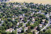 Suburbs Aerial — Stock Photo