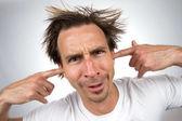 Prsty v uších — Stock fotografie