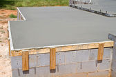 Fresh Concrete Slab — Stock Photo
