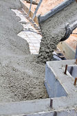 Pouring Concrete Slab — Stock Photo