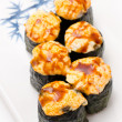 Cheese sushi rolls — Stock Photo