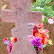 Tombstone cross — Stock Photo