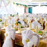 Wedding banquet room — Stock Photo