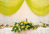Tavolo del banchetto di nozze — Foto Stock