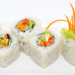 Vegetarian sushi rolls — Stock Photo