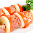 Stock Photo: Raw shish kebab