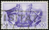 Stamp with Hitler and Mussolini — Stock Photo