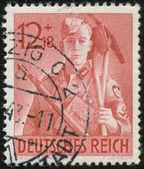 German vintage stamp, macro — Stock Photo