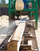 Fabricación de viga cuadrada — Foto de Stock