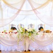 Wedding banquet table — Stock Photo #19156567