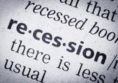 Recession, glossary, macro — Stock Photo