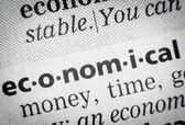 Word economical in glossary, macro — Stock Photo