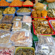 Stock Photo: Dried seafoods at market