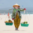 Stock Photo: Fruit vendor