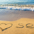 I love sea on beach — Stock Photo