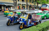 Different taxis in Bangkok — Stock Photo